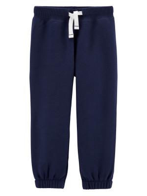 Carter's Pantaloni bleumarin cu șnur în talie