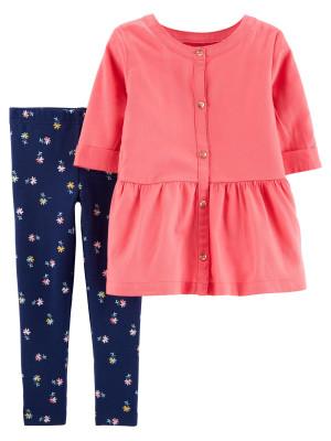 Carter's Set 2 Piese top & pantaloni floral