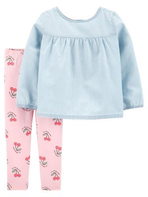 Carter's Set 2 Piese top & pantaloni Cirese