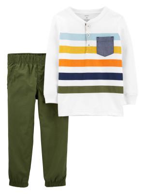 Carter's Set 2 piese cu dungi multicolore bluza & pantaloni