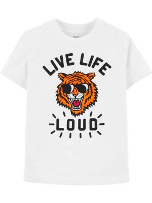 "Oshkosh Tricou ""Live life loud"""