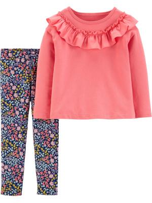 Carter's Set 2 Piese Floral pantaloni & bluză