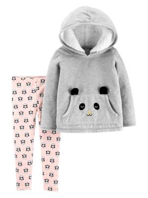 Carter's Set 2 Piese Panda hanorac & pantaloni lungi