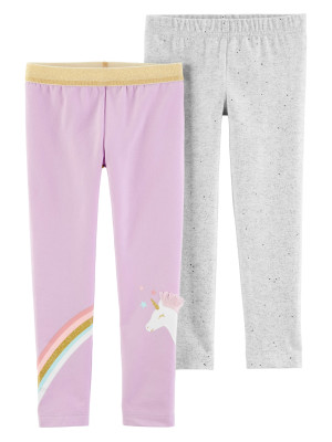 Carter's Set 2 pantaloni, unicorn