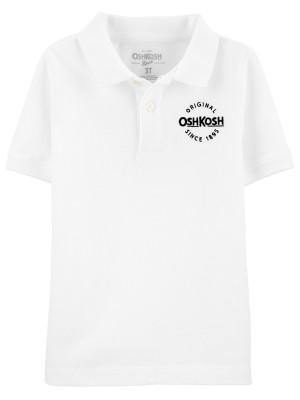 OshKosh Tricou tip polo alb