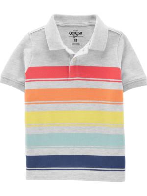 OshKosh Tricou tip polo cu dungi multicolore