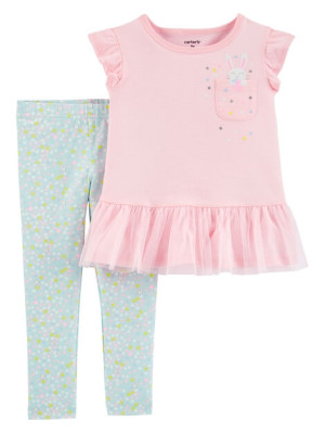 Carter's Set 2 Piese tricou & pantaloni Iepuras