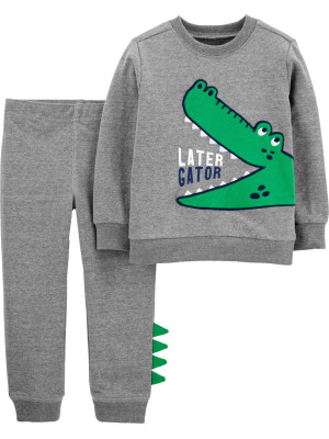 Carter's Set 2 piese bluză si pantaloni Aligator