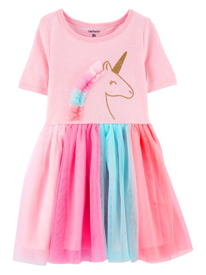 Carter's Rochita cu unicorn si fustita din tulle