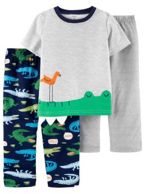 Carter's Set 3 piese pijama aligator