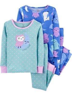 Carter's Set 2 pijamale Bufnite