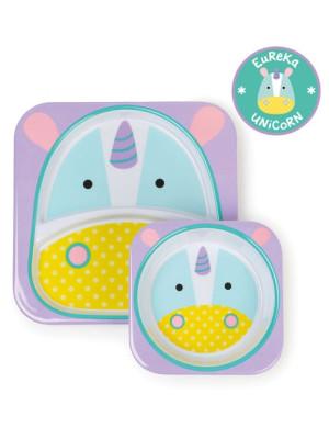 Skip Hop Set Farfurie & Bol – Unicorn