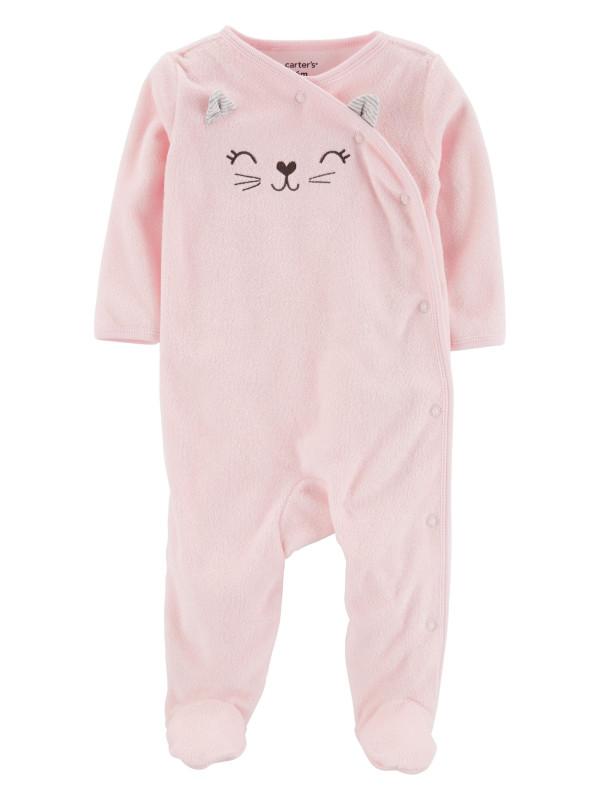 Carter's Pijama bebe cu inchidere laterala Pisica