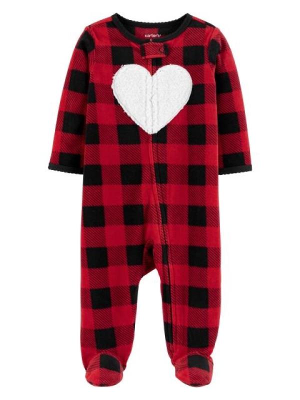 Carter's Pijama Fleece Cadrilata, Inimioara