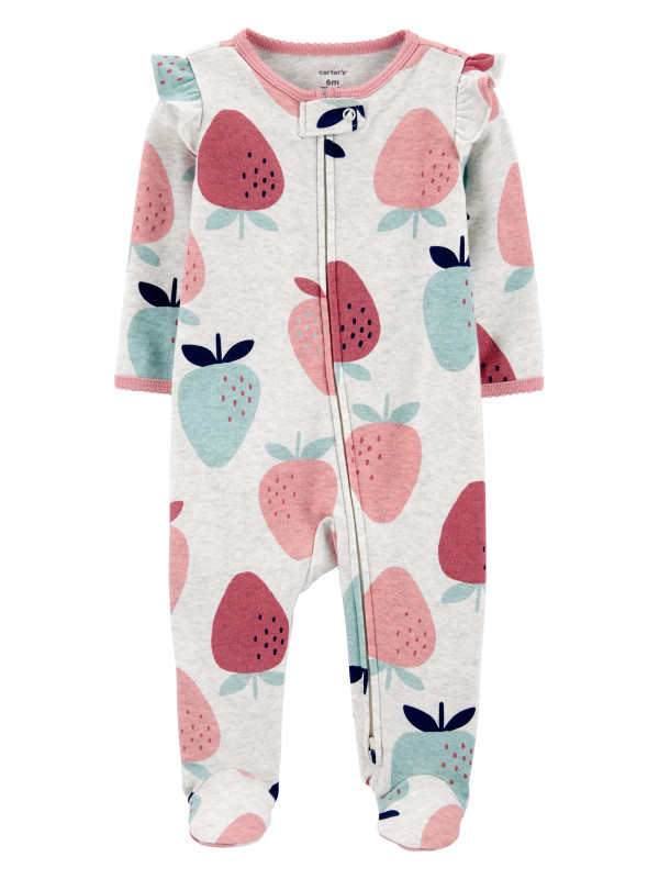 Carter's Pijama cu fermoar reversibil bebe Capsuni