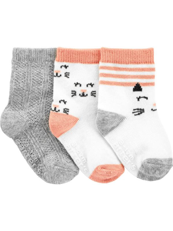 Carter's Set 3 perechi de sosete bebe Pisica