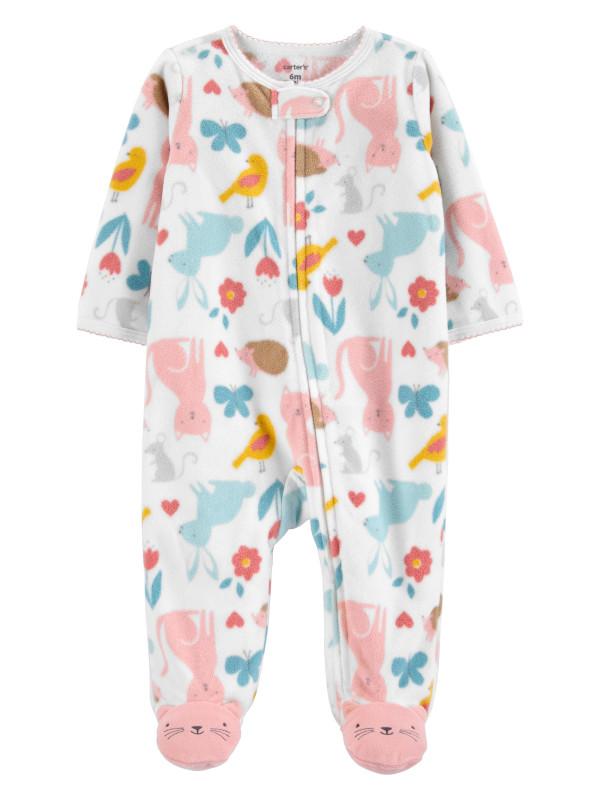 Carter's Pijama bebe cu fermoar reversibil Animale
