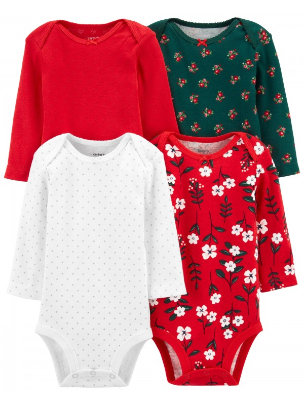 Carter's Set 4 piese bebe body Pinguin