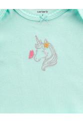 Carter's Set 3 Piese Unicorn – cardigan, pantaloni & body 100% bumbac
