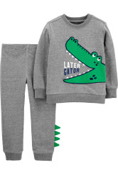 Carter's Set 2 piese bluză & pantaloni Aligator