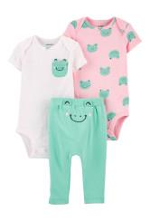 Carter's Set 3 Piese bebelus 2 body si pantaloni Broscuta