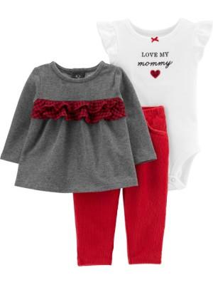 Carter's Set 3 Piese bluză, body & pantaloni