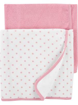 Carter's Set 2 prosoape bebe roz