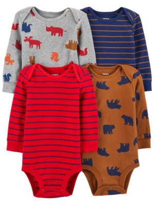 Carter's Set 4 piese bebe body animale, dungi