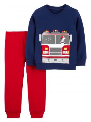 Carter's Set 2 piese bluza si pantaloni Masina de pompieri